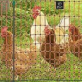 VOSS.farming Premium Elektronetz 112cm farmNET® 50m Hühnernetz Geflügelnetz Hühnerzaun Geflügelzaun 16 Pfähle 2 Spitzen orange