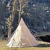 TeRuiQi Campingzelt für 4 Personen Super+ | Zelt stehhöhe Familienzelt |Wasserdicht |Zelt Desert Cotton