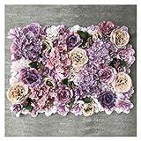 Gzjdtkj Künstliche Blumen 3D Backdrop Wand Hochzeitsdekoration Künstliche Blume Wandplatte für Wohnkultur Kulissen Seide Rose Blumen (Color : D)