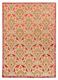 Lydia Sumak Teppich, 170 x 240 cm, traditionell, handgeknüpft, modernes Design, Rot