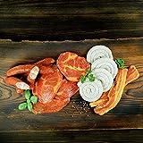 WURSTBARON® Bayerisches Wurst & Fleisch Grillpaket für 5 Personen (ca. 1.6kg) mit Schweinenacken Steak, Wammerl, Grillwurst Bratwurst-Schnecke, Käsek
