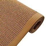 Sisal Teppich Seegrass Teppich, Geflochtener Bereich Teppich Faltbare rutschfeste Akzent Teppich, Küche Schlafzimmer Badezimmer Indoor Japanische Matte, 9 Größen ( Color : A , Size : 100x150cm )