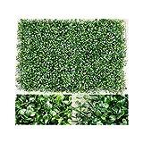 WANNFNG Künstliche Blätter, Sichtschutzhecke, Kunstrasen, dekorativer Zaun von Blättern, Garten/Hauswand, 5 Stück