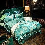 Exlcellexngce Bettbezug 200x200cm,Luxus-Bettdeer Set Home Textile Bequeme Bettwäsche Set Solide Farbe Bettwäsche Einfachheit Bettbezug Kissenbezug 4 Stück-P_1,8m Bett (4 stücke)