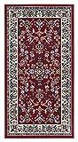 andiamo Klassicher Orientalisches Kurzflor Klassischer Orientteppich Perserteppich-Ornamente Muster Webteppich Kurzflorteppich-rot, Polypropylen, 80 x 150