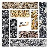 BTT-ST Steinteppich aus Marmorkies Grigio Bardiglio und Epoxidharz Bindemittel für 2,4m² Marmorstein Marmorkiesel Steinboden Bodenbeschichtung