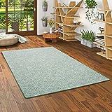 Memory Schlingen Teppich Grün Meliert in 24 Größen