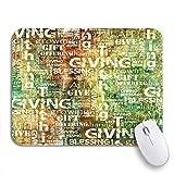 Gaming mouse pad wohltätigkeit spenden und zehnten geld güte brauchen biblische rutschfeste gummi backing computer mousepad für notebooks maus matten
