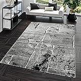 Teppich Steinboden Marmor Optik Design Modern Wohnzimmerteppich Grau Top Preis, Größe:60x100