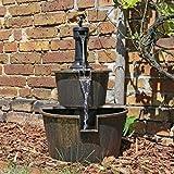 CLGarden Holz Design Springbrunnen DSB1 für Balkon Terrasse Garten Gartenspringb