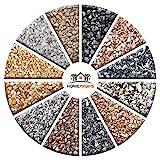Home Profis HPST-2000 Steinteppich-Set – fester Stein-Boden für Innen und Außen, Naturstein-Teppich Marrone Mogano, Marmor-Kies für 2,4 m²