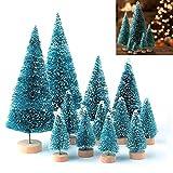 LATERN 28 Stück Künstlicher Weihnachtsbaum Mini Christbaum Grün Tannenbaum künstliche Tanne für Tischdeko, DIY, S
