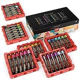 Arteza metallic Acrylfarben, Set mit 36 Farben/Tuben (22ml) in stabiler Aufbewahrungsbox, reichhaltige Pigmente, lichtechte, kräftige, ungiftige Farben, für Künstler, Hobby-Maler, Profis & Kinder