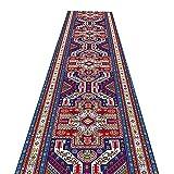 JH1 Läufer Teppich Kurzer Stapel-Misch-Teppichläufer für Küche, Flur & Home Office, 2/2.6/3,6/4,6ft Breiter Bodenteppich mit Gummiunterlage, Einfach Sauber (Size : 0.6×5m)