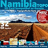 Namibia Karte Outdoor Topo GPS Kart microSD Card für Garmin Navi, PC & MAC