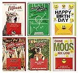 Verlag Dominique - 6er Set Premium Geburtstagskarten mit Geldtasche und Briefumschlag - verschiedene Motive