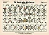 Die Zeichen der Handwerker: Poster mit Beschreibung