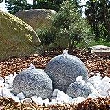 CLGarden Granit Springbrunnen SB1 3 teiliger Kugel Brunen Granitbrunnen Komplett Set Garten Wasserspiel