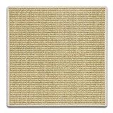 Floordirekt Sisal Fußmatte Teppich Vorleger Kratzteppich Katzenmöbel Kratzmatte Sisalmatte, widerstandsfähig & in vielen Farben und Größen erhältlich (60 x 80 cm, Elfenbein)