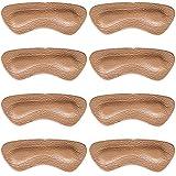 SULPO Fersenkissen - Schuheinlagen aus Echt-Leder, mit Latexschaum-Polster - Fersenschutz/Fersenpolster gegen Blasen - Alle Schuhe - Für Männer & Frauen - 4 Paare Einlagen (Natural Beige)