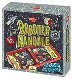 Moses 92101 . Roboter Randale Professor Puzzle , Das rasante Actionspiel aus Holz , Für 2 Spieler ab 6 Jahren