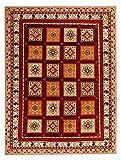 Soliana rotes Sumak-Muster, 170 x 240 cm, traditionelles, handgeknüpftes modernes Design, Teppich und Teppich