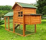 Zoopplier Hühnerstall Hühnerhaus Geflügelstall Nr. 06'Collosus mit Gehege, ausziehbar Wanne & Legebox
