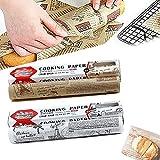 Pergamentpapier Zum Backen,HochtemperaturbestäNdiges,Wasserdichtes Und Fettdichtes Backpapie,Pergamentpapier FüR Lebensmittel