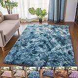 Teppiche Für Wohnzimmer, Teppiche Kindermatte, Shaggy Super Weicher Teppich Geeignet Als Schlafzimmerteppich Home Decor, Navy Blau,160x230