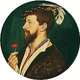 AMANUO Holbein Porträt Leinwand Wandkunstdruck Malerei 60X60 cm Gemälde Aufgerollt - Simon George Cornw