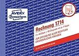 AVERY Zweckform 1714 Rechnung speziell für Österreich (A6 quer, 2x40 Blatt, selbstdurchschreibend mit farbigem Durchschlag, zur Erfassung aller rechtlich erforderlichen Angaben) weiß/gelb