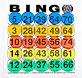 DiPrint Bingo Chips 500 Stück in 5 Farben (rot, gelb, grün, blau und orange)