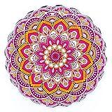 BOHORIA® Premium Design Topfuntersetzer – Dekorative Untersetzer für Vasen, Töpfe, Karaffen und Flaschen auf ihrem Esstisch aus Holz, Glas oder Stein (rund | 20cm) (Mandala Edition) (Yoga)