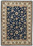 THEKO die markenteppiche Orient-Teppich ZIEGLER blau-Creme Groesse 60 x 90 cm