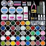 Acryl Nail Kit mit Acrylpulver Flüssigkeit und Basic Acryl Nail Art Tools Nagel DIY Dekoration Acryl Nails Starter Kit Geschenkbox Set