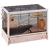 Ferplast FSC Holzkäfig für Hamster HAMSTERVILLE für Mäuse und kleine Nagetiere, Multi-Level-Struktur, Zubehör ink