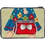 Stitch & Zip Needlepoint Geldbörse Kit - Mod Maggie