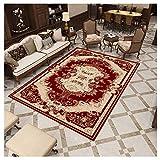 GUOCU Orientalischer Teppich Klassischer Ornamente Muster Webteppich Kurzflorteppich Wohnzimmer Teppich,Bunt11,140x200cm