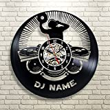 Personalisierte große DJ Name Geschenk Vinyl W