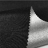 LUOSFUH Flammhemmendes Gewebe Brandschutzunterlage Matte 600D elastischer Draht-Ochsenstoff beschichtetes Silber feuerfestes wasserdichtes Zelt-Gewebe Grillmatte Kamin Stoff (Schwarz, 100cm x 150cm)