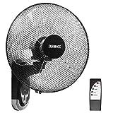 Duronic FN55 Wandventilator 60W - Durchmesser: 40 cm – Timer und Fernbedienung – 3 Geschwindigkeiten - kompakter und leiser Ventilator für Zuhause und Bü
