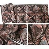 jidan Leicht, beliebte dauerhafte Tapeten zu dekorieren 3D Metal Industrial Wind Retro-Tapete Personality Wasserdicht PVC Cafe Bar Wandpapiertapete Dekorative Wandverkleidung (Color : B)