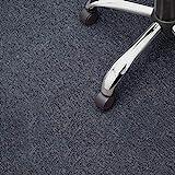Floori® Nadelfilz Teppich, GUT-Siegel, Emissions- & geruchsfrei, wasserabweisend | Viele Farben & Größen (400x200 cm, anthrazit)
