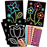 Baker Ross AX877 Blumen Kunst Bastelset - 8er Pack, mit Klebepunkten für Kinder zum Dekorieren und g