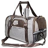 SCM Pets Tasche für Hunde Fluggesellschaft zugelassen weichen Faltbox, Hand tragen tragbar Tasche Home für kleine Hunde, Katzen und Welpen (44 x 25 x 28 cm)