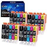 20 Uniwork Druckerpatronen Kompatibel für Canon PGI-525 CLI-526 für Canon PIXMA MG6150 MG6250 MG5350 MG5250 MG5150 IX6550 IP4950 IP4850 (4 PGBK, 4 Schwarz, 4 Cyan, 4 Magenta, 4 Gelb)