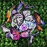 Solar Schmetterlinge Lichter 2PCS Outdoor Kunst Lichter Solar Gartenstecker Gartenleuchten Buntes LED-Licht für Außen,Garten,Terrasse,Rasen Solarlicht Gartendeko Garten-Deko-Lampe Wasserdicht Laterne
