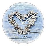 Pro-Art ta020 Glas-Wanduhr Time-Art, Wooden love I, Durchmesser 40 cm