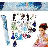 alles-meine.de GmbH 30 Stück: Wandsticker + Bordüre -  Frozen / Disney die Eiskönigin  - selbstklebend + wiederverwendbar - Aufkleber für Kinderzimmer - Wandtattoo / Stick