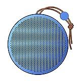 Wasserdichter Lautsprecher, tragbarer Bluetooth-WLAN-Lautsprecher mit staubdichter und wasserdichtem und 360 ° Surround-Sound 24 Stunden Akkulaufzeit für Reisen, Zuhause, Party, Dusche & draußen,Blau